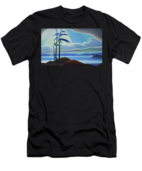 Ode To The North II - Center Panel Men's T-Shirt (Athletic Fit)