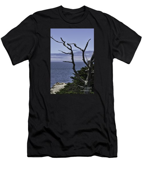 Men's T-Shirt (Slim Fit) featuring the photograph Off Shore by Judy Wolinsky