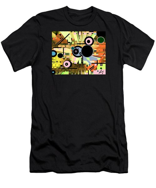 Men's T-Shirt (Athletic Fit) featuring the digital art Off The Grid 66 by Lynda Lehmann