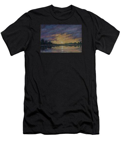 Offshore Sunset Sketch Men's T-Shirt (Athletic Fit)