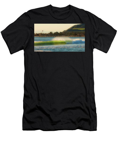 Offshore Wind Wave And Ventura, Ca Pier Men's T-Shirt (Athletic Fit)