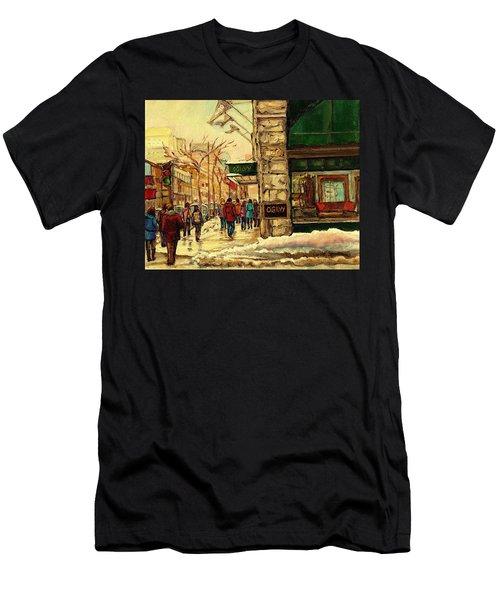 Ogilvys Department Store Downtown Montreal Men's T-Shirt (Slim Fit) by Carole Spandau