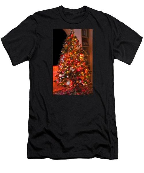 Men's T-Shirt (Slim Fit) featuring the photograph Oh Christmas Tree by Joan Bertucci