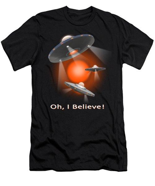 Oh I Believe  Se Men's T-Shirt (Athletic Fit)
