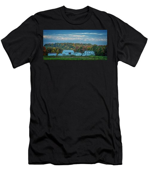 Men's T-Shirt (Athletic Fit) featuring the photograph Ohio Farm by David Waldrop
