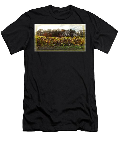 Men's T-Shirt (Slim Fit) featuring the photograph Ohio Winery In Autumn by Joan  Minchak