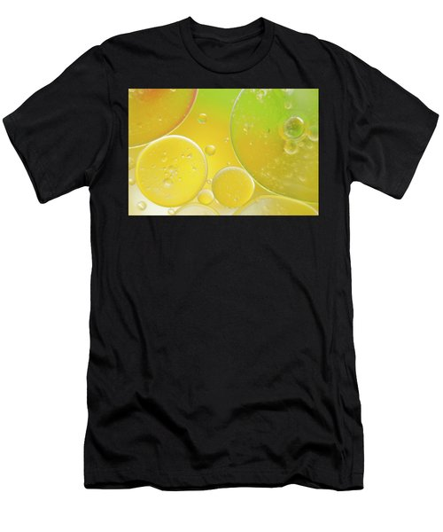Oil And Water Bubbles  Men's T-Shirt (Athletic Fit)