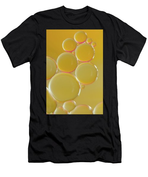 Oil Bubbles On Water Abstract Men's T-Shirt (Athletic Fit)