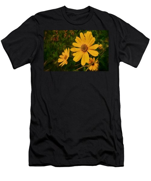Oil Glaze Wildflowers Men's T-Shirt (Athletic Fit)