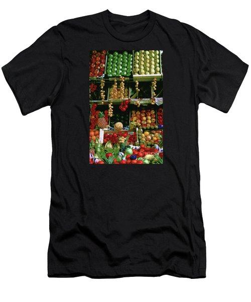 Oil Painted Faux Paris Fruit Display Men's T-Shirt (Athletic Fit)