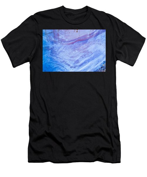 Oil Spill On Water Abstract Men's T-Shirt (Athletic Fit)