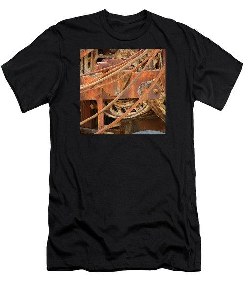 Oil Production Rig Men's T-Shirt (Athletic Fit)