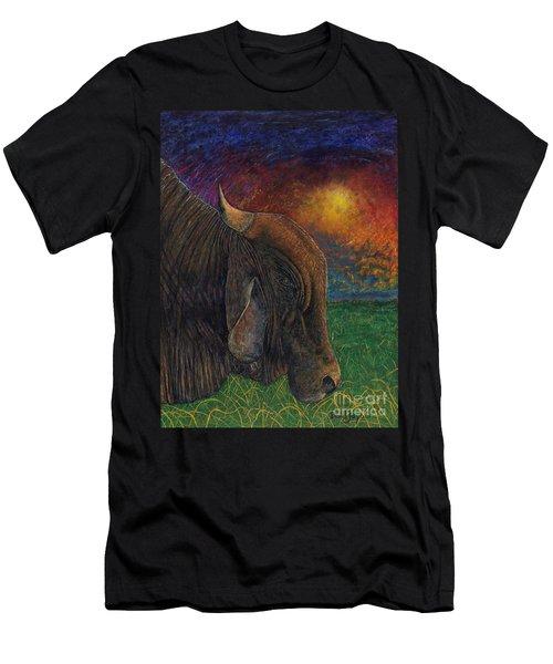 Okeechobee Brahman Men's T-Shirt (Athletic Fit)