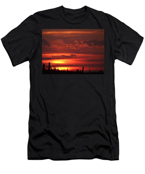 Men's T-Shirt (Athletic Fit) featuring the digital art Oklahoma Sky At Daybreak  by Shelli Fitzpatrick