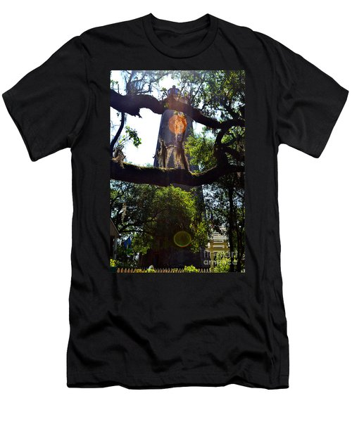 Old Baldy Lighthouse And Tree Men's T-Shirt (Athletic Fit)