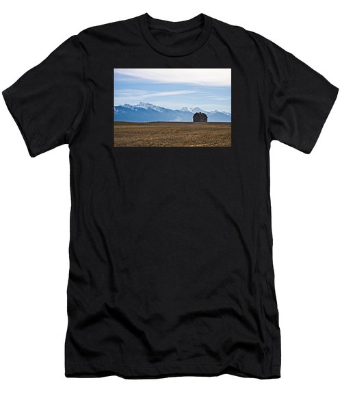 Old Barn, Mission Mountains Men's T-Shirt (Athletic Fit)