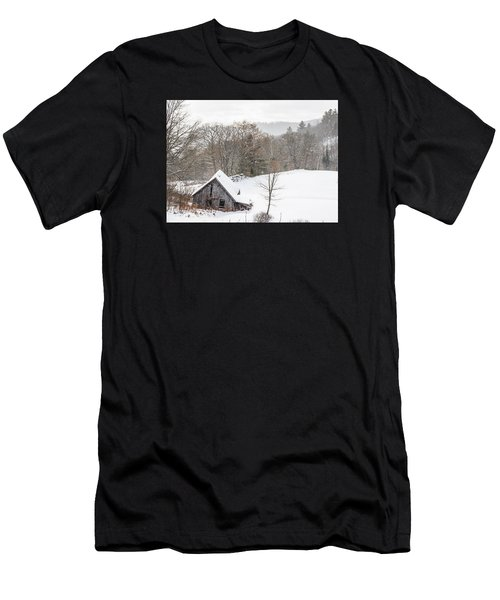 Old Barn On A Winter Day Wide View Men's T-Shirt (Athletic Fit)