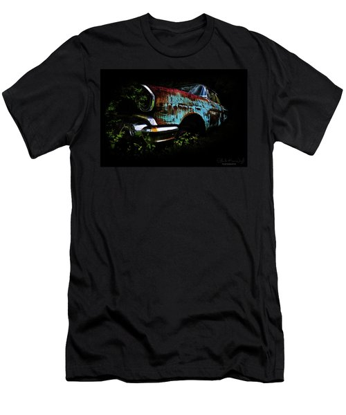 Men's T-Shirt (Athletic Fit) featuring the photograph Old Blue Chevy by Glenda Wright
