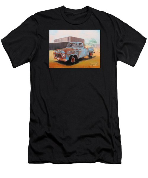 Old Blue Ford Truck Men's T-Shirt (Athletic Fit)
