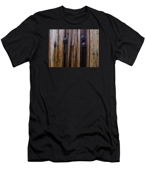 Old Door With Bolts And Nails Men's T-Shirt (Athletic Fit)