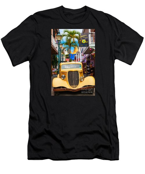 Old Car On Old Street Men's T-Shirt (Athletic Fit)