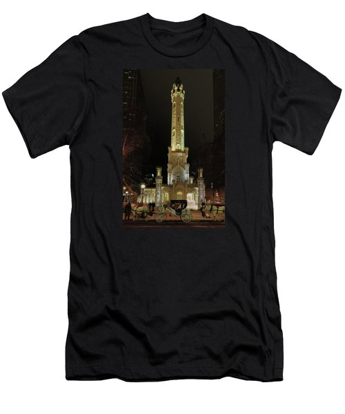 Old Chicago Water Tower Men's T-Shirt (Slim Fit) by Alan Toepfer