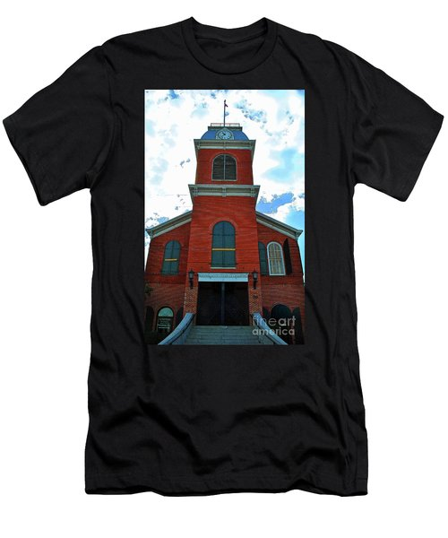 Men's T-Shirt (Athletic Fit) featuring the photograph Old City Hall Key West by Jost Houk