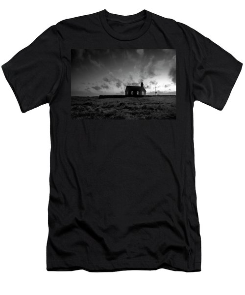 Old Countryside Church In Iceland Men's T-Shirt (Slim Fit) by Joe Belanger
