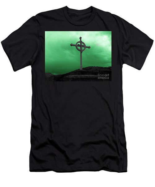 Old Cross - Green Sky Men's T-Shirt (Athletic Fit)