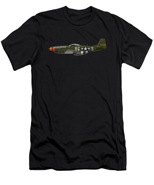 Old Crow - P-51 D Mustang Men's T-Shirt (Athletic Fit)