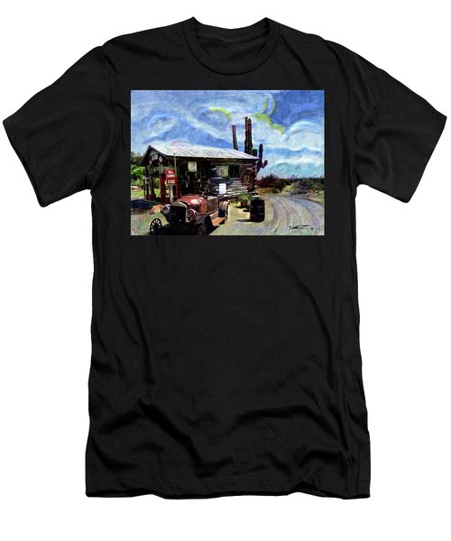 Old Desert Gas Station Men's T-Shirt (Athletic Fit)