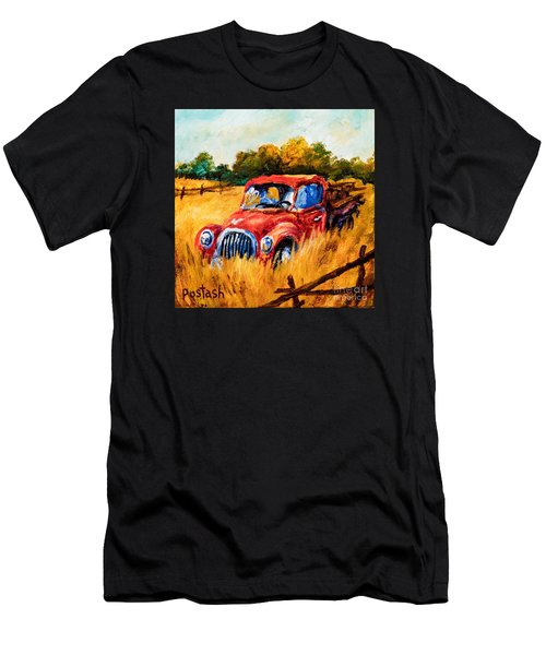 Men's T-Shirt (Slim Fit) featuring the painting Old Friend by Igor Postash