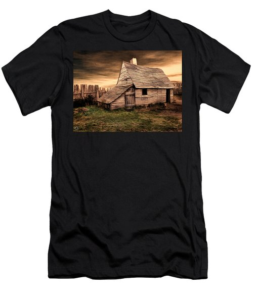 Old English Barn Men's T-Shirt (Athletic Fit)