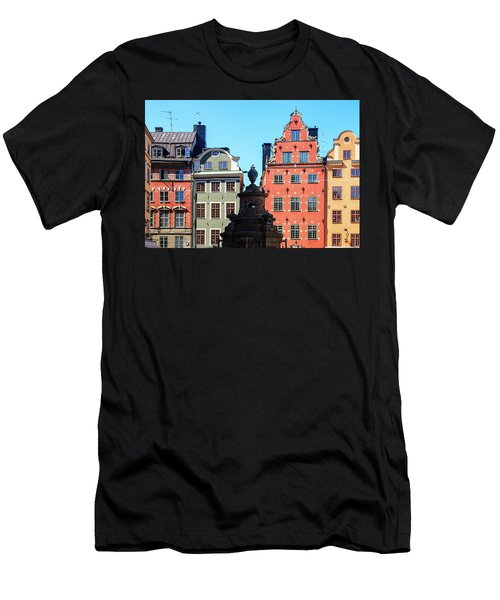 Old European Architecture Men's T-Shirt (Slim Fit) by Teemu Tretjakov