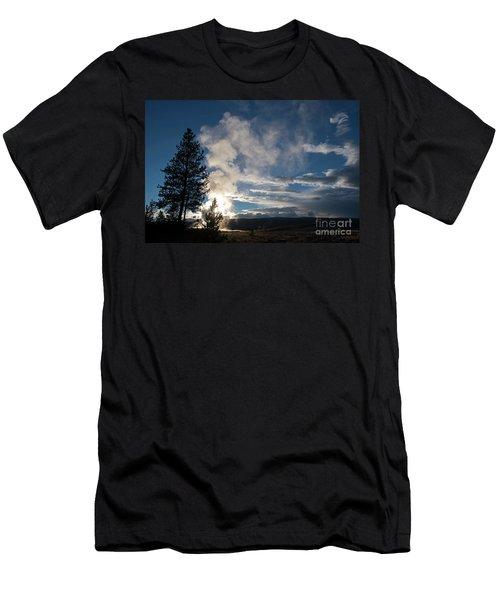 Old Faithfull At Sunset Men's T-Shirt (Athletic Fit)