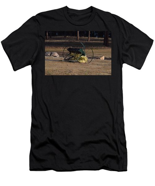 Men's T-Shirt (Athletic Fit) featuring the photograph Old Farm Implement Lake George Co by Margarethe Binkley