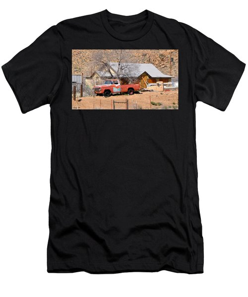Old Farm Trucks Along Route 66 Men's T-Shirt (Athletic Fit)