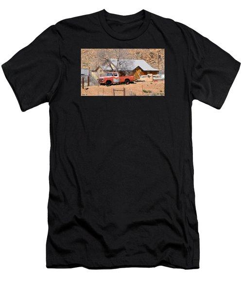 Old Farm Trucks Along Route 66 Men's T-Shirt (Athletic Fit)