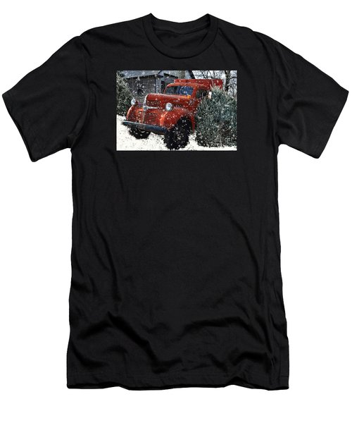 Old Fashion Country Christmas  Men's T-Shirt (Athletic Fit)