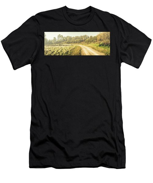 Old-fashioned Country Lane Men's T-Shirt (Athletic Fit)