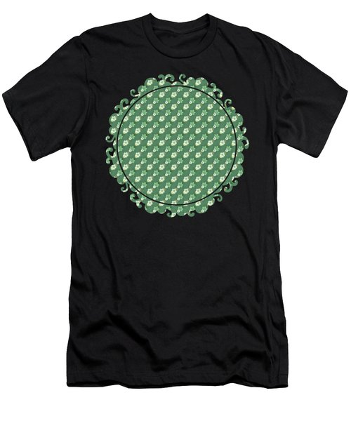 Men's T-Shirt (Athletic Fit) featuring the digital art Old Fashioned Green Flowers by Becky Herrera