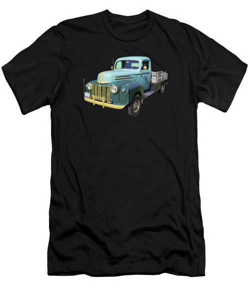Old Flat Bed Ford Work Truck Men's T-Shirt (Athletic Fit)