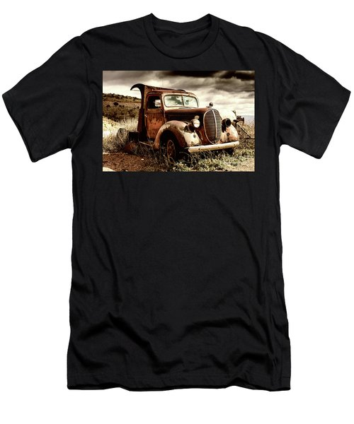 Men's T-Shirt (Athletic Fit) featuring the photograph Old Ford Truck In Desert by Miles Whittingham
