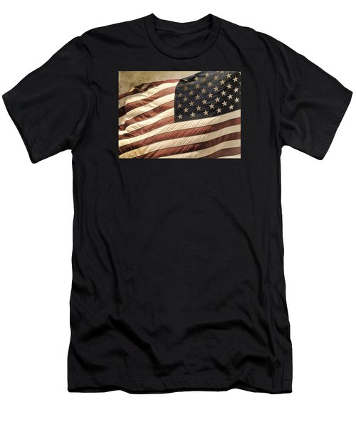 Old Glory Men's T-Shirt (Slim Fit) by TnBackroadsPhotos
