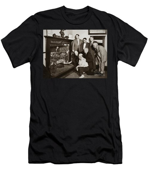 Old Grate That First Burned Anthracite Coal Successfully In The Old Fell House Wilkes Barre Pa Men's T-Shirt (Athletic Fit)