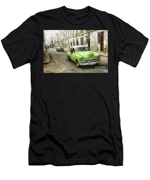 Old Green Car Men's T-Shirt (Athletic Fit)