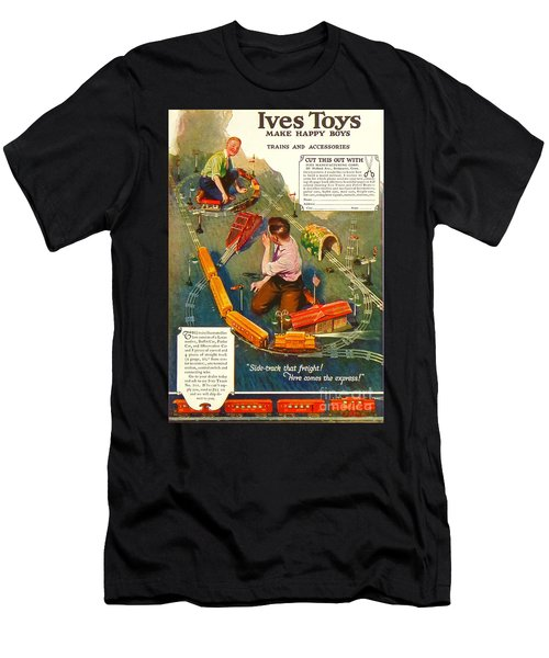 Old Litho Print Toy Train Advertisement Men's T-Shirt (Athletic Fit)