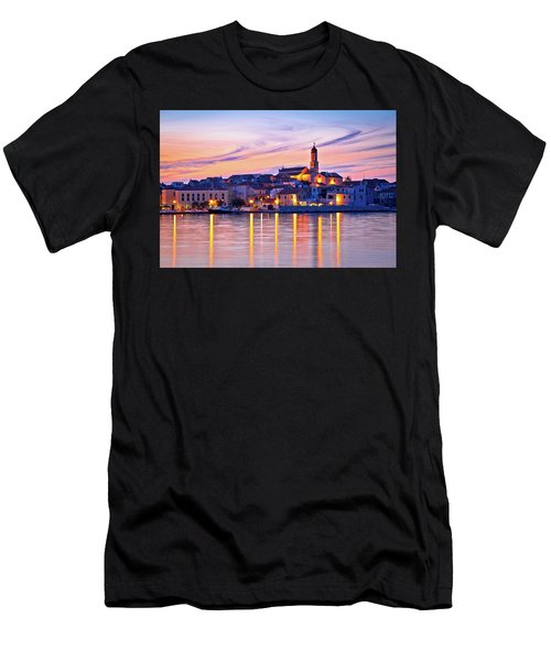 Old Mediterranean Town Of Betina Sunset View Men's T-Shirt (Athletic Fit)