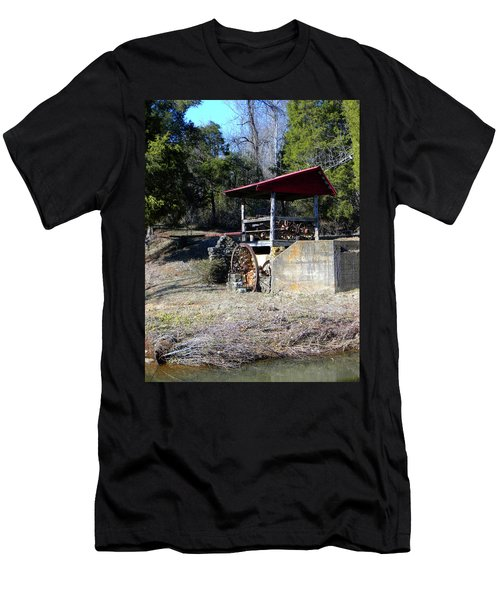 Men's T-Shirt (Slim Fit) featuring the photograph Old Mill Of Guilford Pumphouse by Sandi OReilly