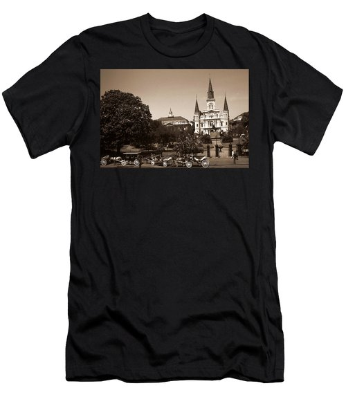 Old New Orleans Photo - Saint Louis Cathedral Men's T-Shirt (Athletic Fit)